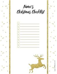 Blank Christmas List Free Christmas List Template Customize Online Print At Home