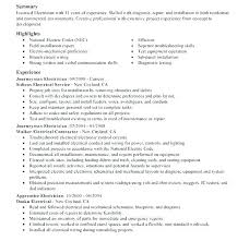 Sample Electrician Resume – Andaleco