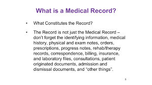 The Medical Record What Is It It Is A Lot More Than The