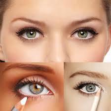 نتیجه تصویری برای WHITE EYE PENCIL makeup
