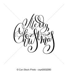merry christmas black and white script. Beautiful White Merry Christmas Black And White Handwritten Lettering Inscriptio   Csp42632280 With Merry Christmas Black And White Script T