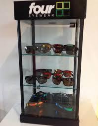 custom acrylic lockable eyeglass display case locking sunglass display cabinet