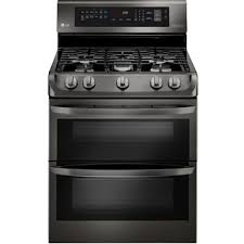 gas double oven range with probake convection easyclean