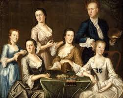 the composition of family paintings was changing throughout the 18th century as well
