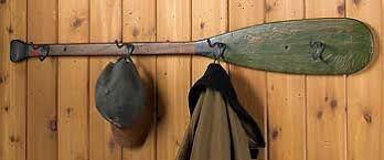 Boat Oar Coat Rack I Have An Old Paddle Put Hooks In It And Hang Photos From It 15