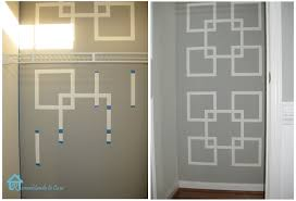 Wall Patterns With Tape Remodelando La Casa The Monster Inside The Closet