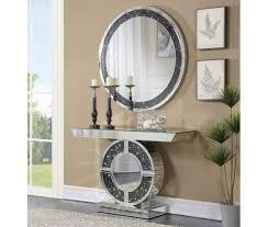 mirror console table. Telite Modern Mirrored Console Table Mirror