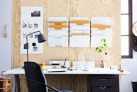 ikea office inspiration. Desk In Front Of A Panel Wood Holding IKEA Wall Pockets And Noticeboard. Ikea Office Inspiration G