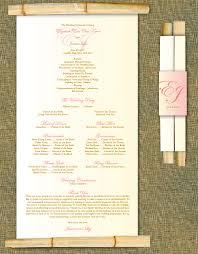 Wedding Program Scroll Paper Crew Bamboo Scroll Programs