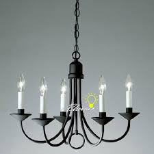 antique iron art and 5 candles chandelier 8421