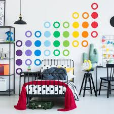 large colorful rainbow wall decal large