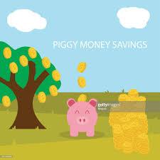 Geld Sparen In Rosa Schweinchen Mit Gold Coin Symbol Vektorillustration Eps  10 Stock-Illustration - Getty Images