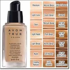 Avon Foundation Colour Chart Avon True Color Liquid Foundationi Avon True Liquid