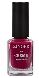 Zinger <b>Лак для ногтей</b> 12 мл <b>Creme</b> RASPBERRY WINE (675)