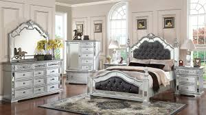 Mirrored bedside furniture Pewter Groliehome Mirrored Bedroom Furniture Sets Theradmommycom