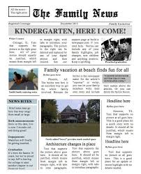 Newspaper Template No Download Two Page Family Times Newspaper Template Instant Download To Use