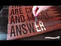 Make a Rustic <b>Wood</b> Sign - YouTube