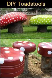 diy toadstools backyard furniture