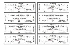 Fundraiser Ticket Template Free Download Best Event Ticket Templates 48 Templates Pinte