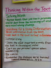 Guided Reading Anchor Charts Within Beyond And About The