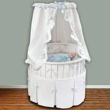 badger basket 86000 white elite oval bassinet with white bedding set
