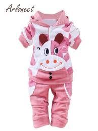 ARLONEET <b>Newborn</b> Kid <b>Baby</b> Girl Boy Outfits <b>Cartoon cow</b> velvet ...