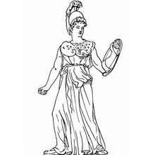 Aphrodite The Greek Goddess Of Love Coloring Pages Hellokidscom