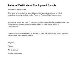 Example Of Certification Employment 9 Reinadela Selva
