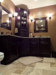 custom corner vanity