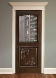 Interior Door Custom - Single - Solid Wood with Walnut Finish, Wine ...