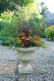 Fall Planter For Under 20 Dollar Store Fake Leaves And Backyard Container Garden Ideas For Fall
