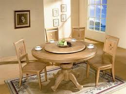 white oak rolling round kitchen table set vintage dining room design