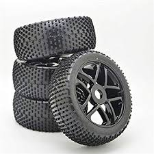 4PCS RC 1/8 Off-Road Car Buggy Rubber Tyre Tires ... - Amazon.com