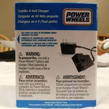 Power Wheel Chart Power Wheels 00801 1781 Blue 6v Battery Charger 6 Volt