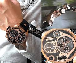 17 best images about the best gifts 2 leather men s diesel sba mr daddy rose gold chronograph leather dz7261 diesel watches