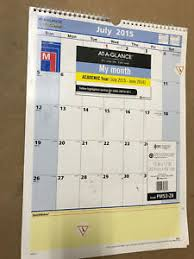 Calendars For June And July 2015 Acco Brands Calendar 12in X 17in July 2015 June 2016