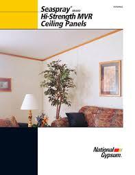 Seaspray Hi Strength Mvr Ceiling Panels National Gypsum Pdf