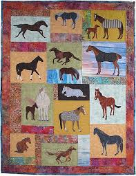 Horse Quilt Pattern Delectable Just Horses 48 Applique Quilt Pattern Horsesponies In Multiple
