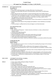 Nurse Recruiter Resume Samples Velvet Jobs