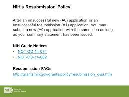nih resubmission cover letter example nih peer review process grant renewal ppt download