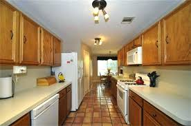 lighting for galley kitchen. Galley Kitchen Track Lighting Ideas To Make A  Appear Larger Home Lighting For Galley Kitchen