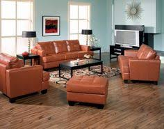 have a burnt orange sofa and wood floors and am trying to figure out what color burnt orange living room furniture