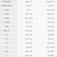 Justice Sock Size Chart Justice Size Chart Awesome Size Conversion Chart For Kids