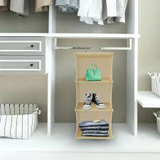 3 shelf hanging closet organizer threshold