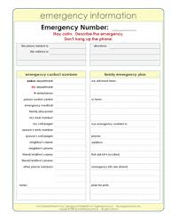 017 Template Ideas Emergency Phone Fantastic Numbers Contact