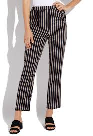Striped Pull On Pants