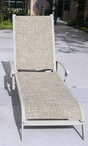 mercial Pool Furniture Chaise Sling Replacements in California with Desert Outdoor Fabric