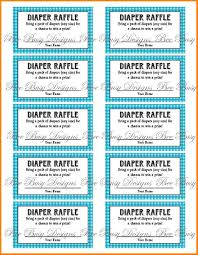 8 printable raffle tickets receipt templates printable blue gingham diaper raffle tickets great for baby showers