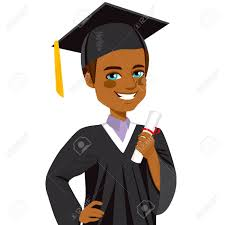 african american boy student smiling on graduation day holding  african american boy student smiling on graduation day holding diploma on hand stock vector 36165059