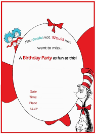 Free Templates For Invitations Birthday Dr Seuss Birthday Invitation free template Invitations Online 37